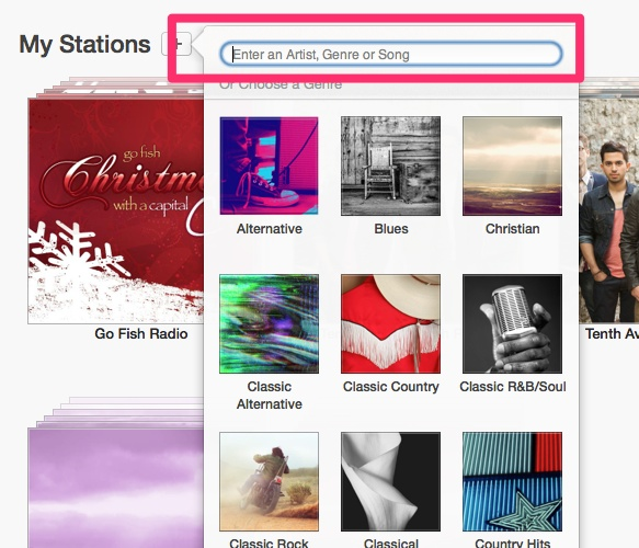 create station in itunes radio
