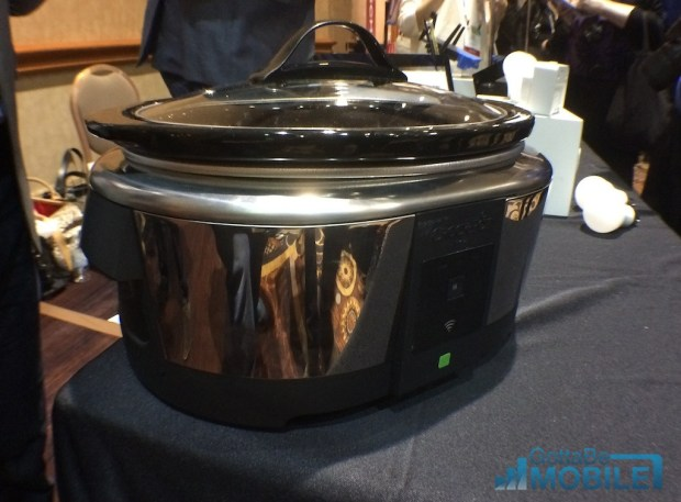 The Belkin WiFi Crock Pot is a WeMo slow cooker that allows iPhone and Android control.