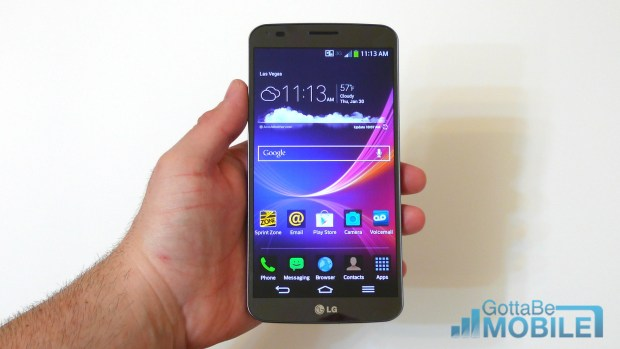 LG's G Flex has a curved display