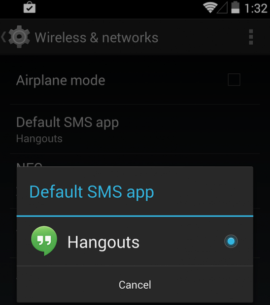 disable-hangout