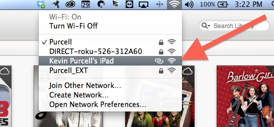 personal hotspot over usb on mac