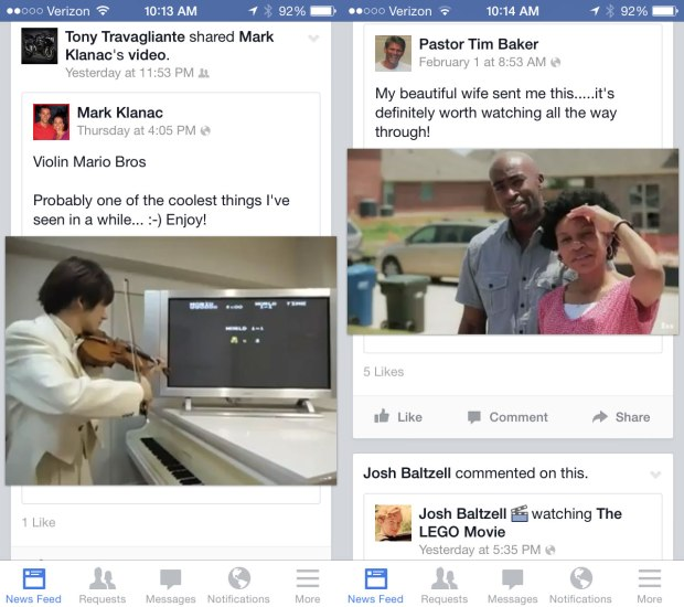 Users complain about Facebook auto play videos showing them videos they don't want to see and using costly data.