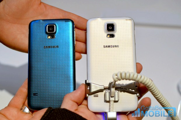The Galaxy S5 is still plastic, but offers a better feel than previous phones.