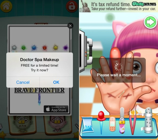 Little Hand Doctor is full of ads an in app purchases.