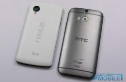New HTC One M8 vs - Nexus 5-X3