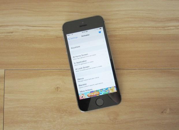 iOS 7 jailbreak app Activator