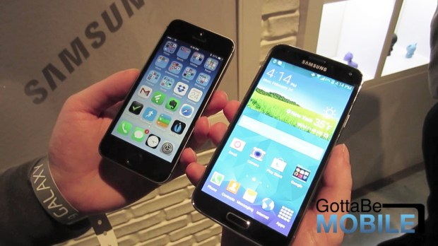 The Galaxy S5 display is larger and according to a report, the best smartphone display you can buy.