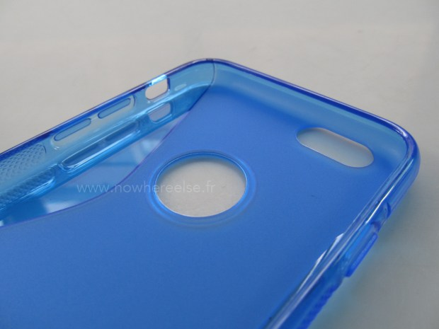 An iPhone 6 case shows a new power button design and a larger size.