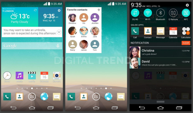 This is what the LG G3 software could look like, on the rumored Quad HD display.