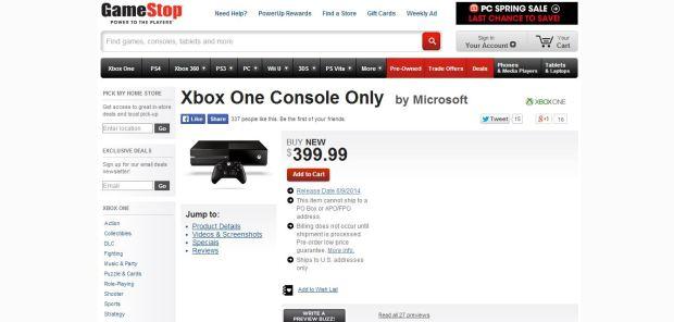 gamestop xbox one