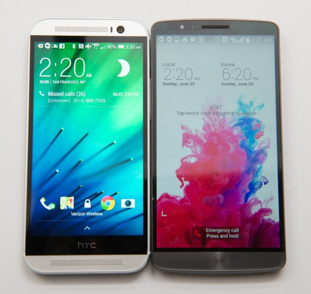 HTC One M8 vs LG G3