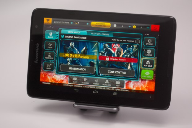 The Lenovo A8 can play games like Shadowgun.