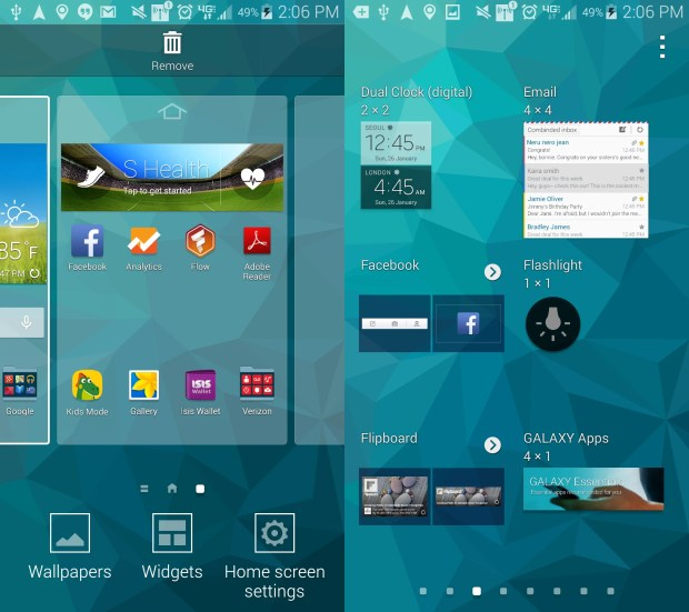 This guide shows you how to add the Galaxy S5 flashlight widget to your home screen.