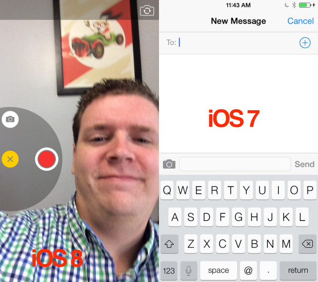 After you install IOS 8 without a developer account you can check out new features.