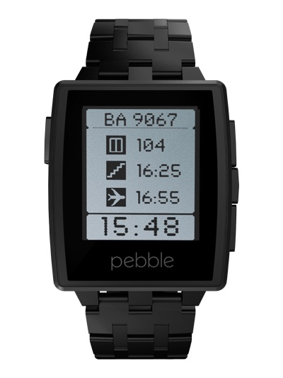 pebble steel with black band