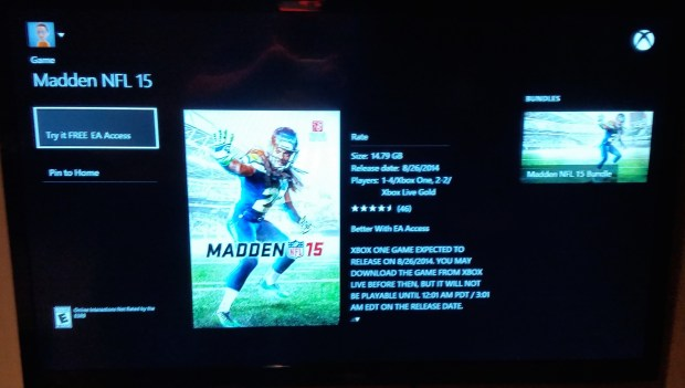 No option to play until 3AM on the Madden 15 release date is ludicrous.
