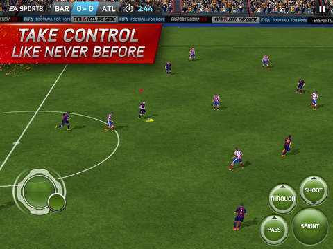 Choose from on screen control options or an external controller.