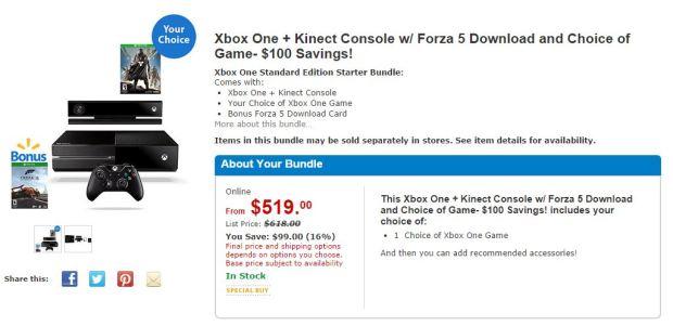 Walmart Xbox One Deal