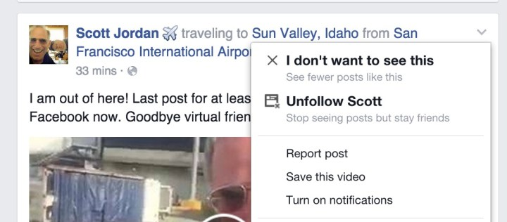 Save Facebook posts to watch or read later.