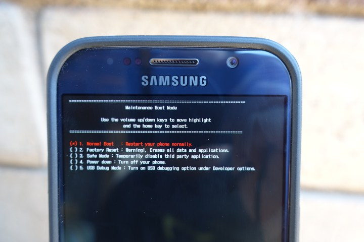 Problème écran noir Samsung Galaxy S6