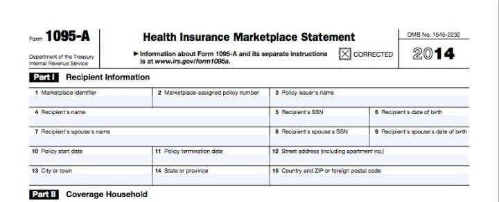 What do do if you are still waiting for the correct IRS Form 1095-A Health Insurance Marketplace Statement.