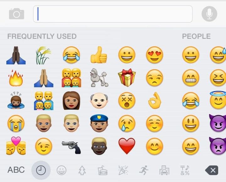 scroll to use new emojis.