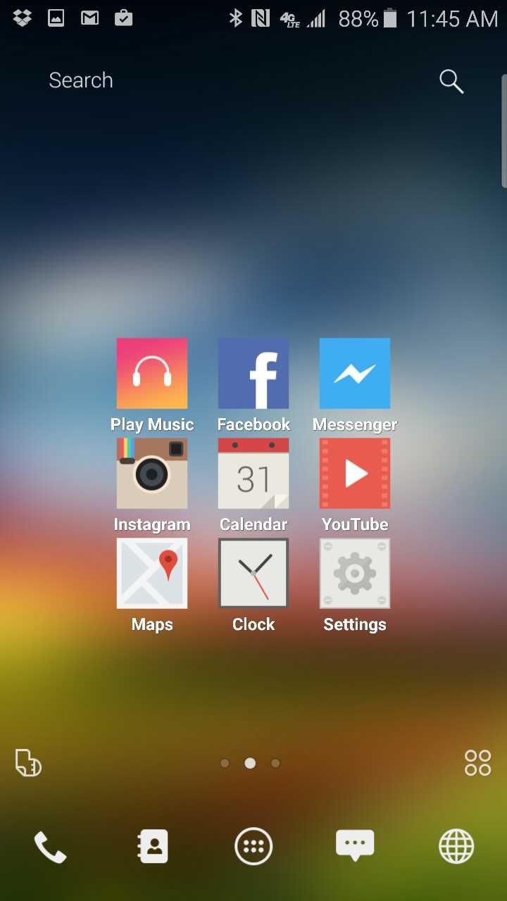 buzz laucher default home screen