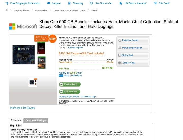 Dell Xbox ONe Deal