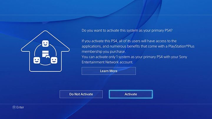 Make your PS4 the primary console to play PS4 games offline.
