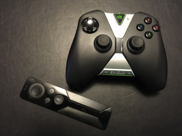 nvidia shield tv remote and game controllers
