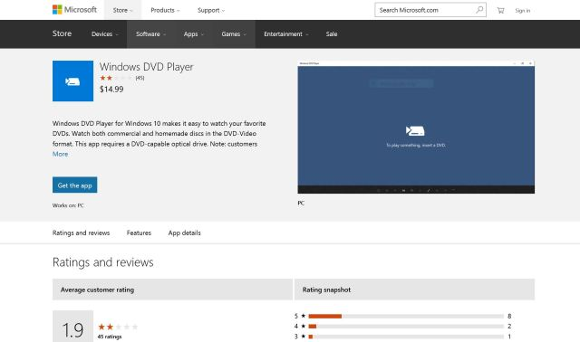 Microsoft DVD Player