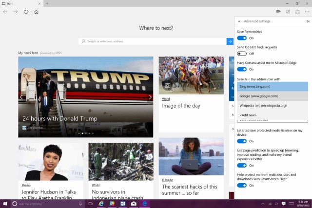 how to change the search engine to google in windows 10 (9)