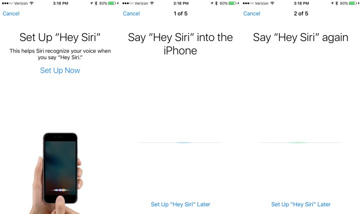 The iOS 9 update makes Siri easier to use with a new Hey Siri training option.