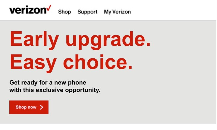 There are Verizon iPhone 6s early upgrade offers available.