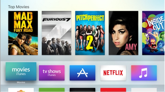 Apple TV apps are entertaining.