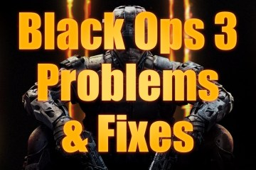 How to fix common Black Ops 3 problems.