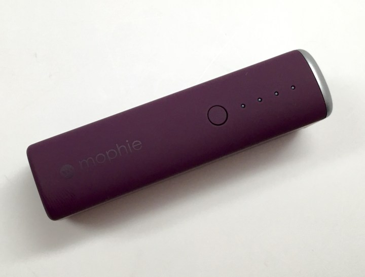 The Mophie Power Reserve 1X is small, portable and colorful as well.
