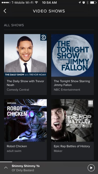 Spotify Video Shows