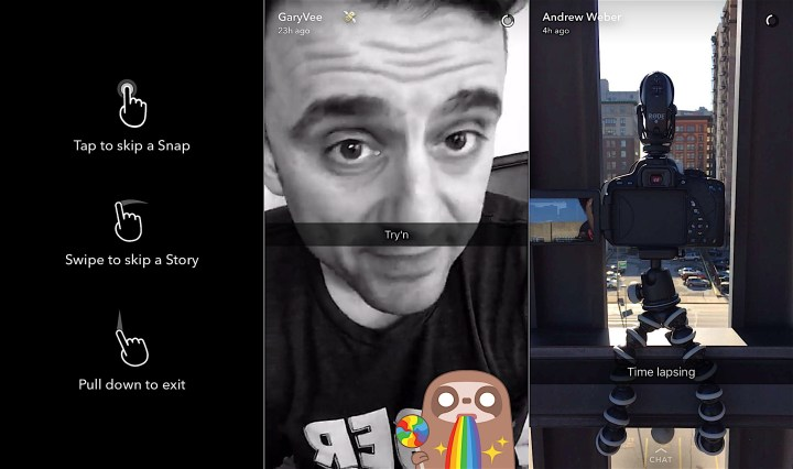 Here's what's new in Snapchat stories.