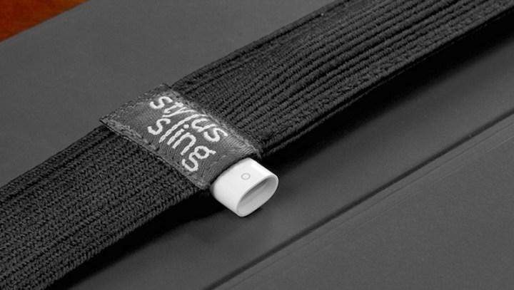 pocket for lightning adapter on stylus sling