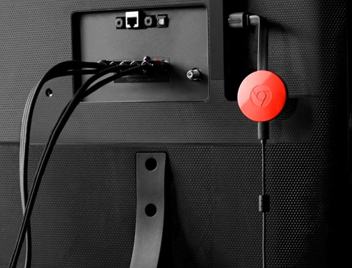 chromecast plugged into tv