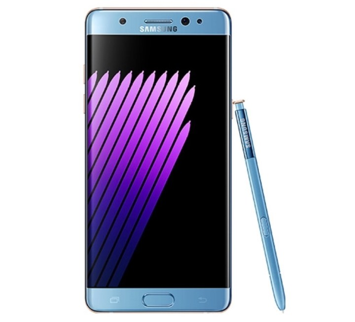 The Coral Blue Galaxy Note 7 with a curved display