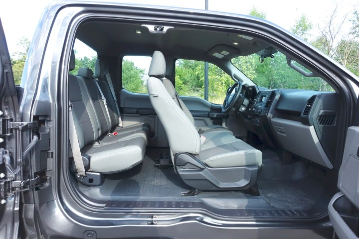 You can fit six people inside the 2016 Ford F-150 Supercab easily.