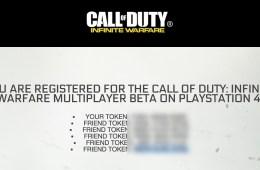 Find your PS4 Infinite Warfare beta tokens.