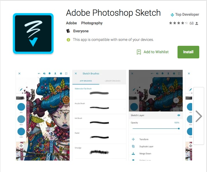 photoshop fix for android