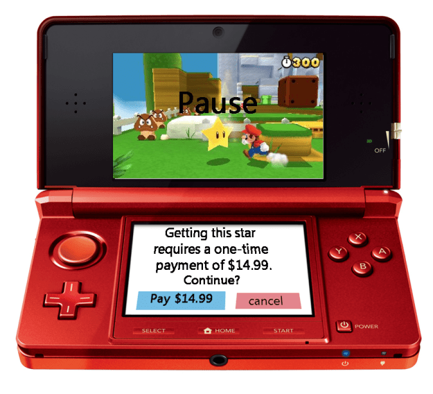 3DS in app purchases