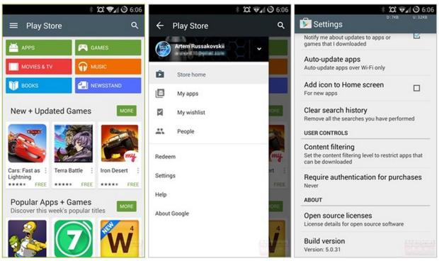 The Android L release approaches as the Google Play 5.0 download arrives. Image via Android Police.