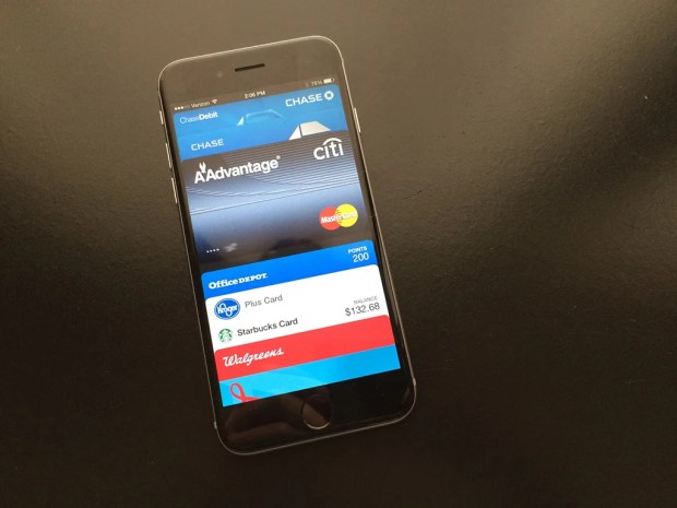 Set up Apple Pay on the iPhone 6 or iPhone 6 Plus.
