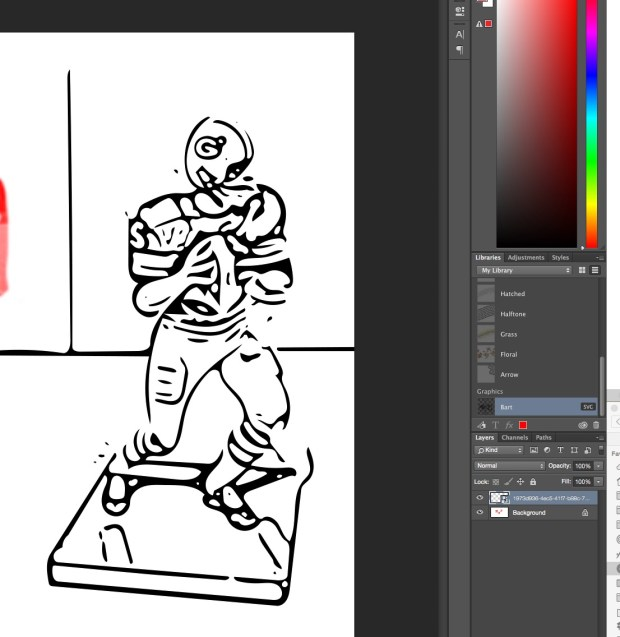 Bart shape take in Adobe Shape