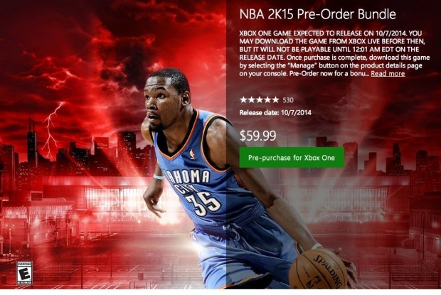 Here's the details about the  digital NBA 2K15 release and preloading.